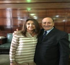El MInistro Washington Navarro con la Defensora Pública de la Nación, doctora Stella Maris Martínez.