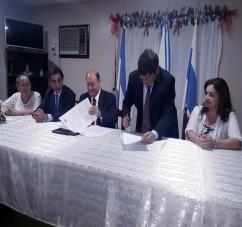 EL MINISTERIO DE LA DEFENSA FIRMO UN CONVENIO PARA ABRIR UN CENTRO DE ATENCION JUDICIAL EN ALDERETES