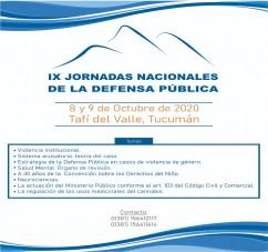IX JORNADAS NACIONALES DE LA DEFENSA PUBLICA