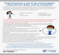 EL MINISTERIO PUPILAR Y DE LA DEFENSA RECORDO LAS MEDIDAS DE PREVENCION ANTE LA LLEGADA DEL PERIODO DE ENFERMEDADES RESPIRATORIAS