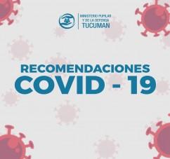 EL MINISTERIO PUPILAR Y DE LA DEFENSA RECUERDA LAS PREVENCIONES ANTE LA CIRCULACION COMUNITARIA DEL CORONAVIRUS